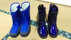 防寒ブーツ エナメルブーツ セット 18センチ 未使用