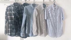 まとめ売り 福袋 メンズ シャツ 長袖,半袖 5枚set S〜M 中古