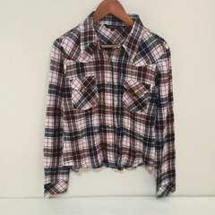 #チェックシャツ☆L