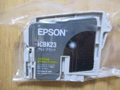 インジェクトプリンターインク EPSON ICBK23(フォトブラック) 新品!�@