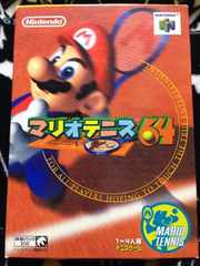 マリオテニス64 箱説有 MARIO