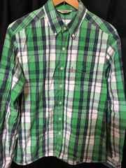 リーバイス XL チェック ボタンダウンシャツ 緑
