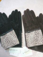 FURLAフルラ豚皮革手袋アニマル スェード 1双