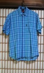 swagger スワッガー 半袖シャツ Lサイズ チェック ボタンダウンシャツ ストリートブランド 服