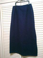 紫紺★ロングスカート★秋冬★シンプル