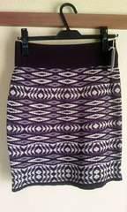 スコットクラブ購入ニットスカート幾何学柄新品