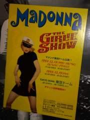 マドンナ1993年The Girlie Show★東京公演告知チラシ