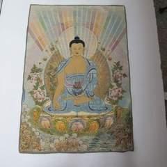 【送料無料】◆チベットシルク/薬師如来タンカ/仏画/60