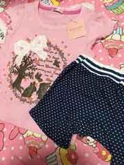 新品☆女の子用のTシャツとモンキーパンツズボンセット♪100