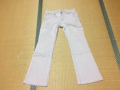 大きいサイズ☆ブーツカットパンツ☆ピンク系☆W76