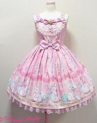 Dolly Cat ドーリーキャットのジャンパースカート☆ピンク新品