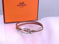 【贈り物に】HERMES チョーカー ブレスレット ジャンボ シルバー金具★dot