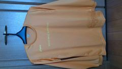 訳あり激安85%オフacics、アシックス、ドライ、長袖Tシャツ(美品、橙、O)