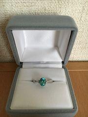 ダイヤモンド×天然石 リング K18WG 4.0g