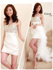 angelR 2wayベアロングドレス