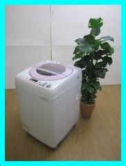 シャープ(SHARP)8,0k全自動洗濯機ES-GV80P-Pピンク系2014年製