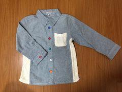 新品  長袖シャツ  青  サイズ100