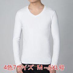 メンズ カジュアル Tシャツ Vネック ボタン 無地 シンプルMCXT21