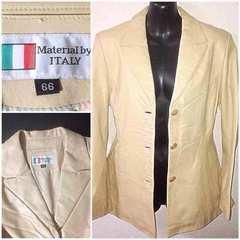 格安イタリア革送料込柔らか高級皮レザージャケット細身アウター
