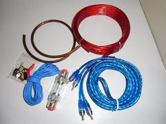 アンプケーブルキット/ハイパワーアンプ配線キット 8ゲージ 8GK