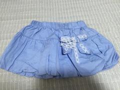 美品  姫系♪  ぷっくりおリボンミニスカート