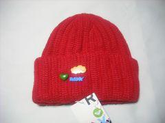 wb671 ROXY ロキシー ウール ニット帽 ビーニー 赤
