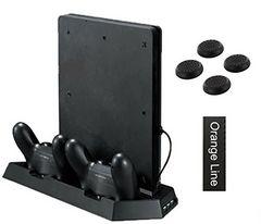 新品即決 新型PS4スリム用 多機能縦置きスタンド 送料無料