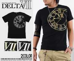 メール便送料無料【DELTA】Tシャツ70632新品黒金XL