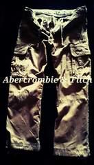 【Abercrombie&Fitch】最高峰 Vintage デストロイカーゴパンツ  32/Khaki