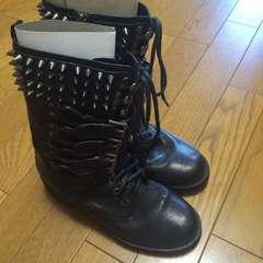 ルッシェルブルースタッズ ブーツ 35.5サイズ 黒