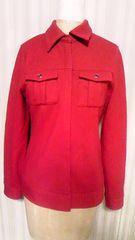 トゥモローランド・MACPHEEマカフィーシルバーボタンシャツタイトウールジャケットアウター赤レッド