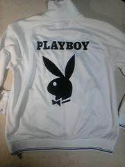 ◆PLAYBOY(プレイボーイ)フルZIPジャケット/白/×SUPREME(シュプリーム)好きに☆