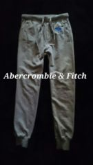 【Abercrombie&Fitch】スウェットパンツ ジョガー L/L.Grey  ビッグムースロゴ