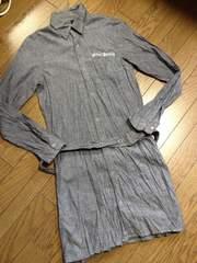 美品glamb ロングシャツコート 日本製 グラム