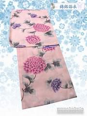 【和の志】女性用浴衣◇綿絽◇Fサイズ◇ピンク系・ダリア◇6