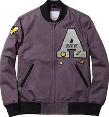 �DM 13S/S Supreme Cadet Varsity JKT Grey M �o�[�V�e�B������