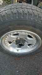 16インチアルミ タイヤ付き PCD139*7 6穴 51ジムニーランクルハイエースハイラックスダットラ