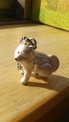 エポック社ガチャガチャ柴犬3�A白柴(耳かいかい)