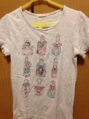 超美品☆GU☆オフホワイトフリル半袖150