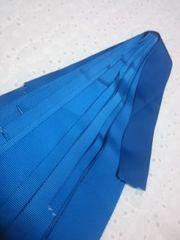 青い布リボン10枚