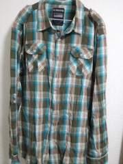 USチェックシャツ 3XL位