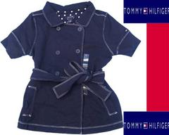 F05)TommyHilfigerマリンコートSネイビー紺トミーセレブ120cmB系キッズHipHop