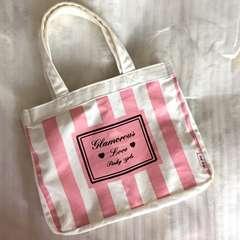 pinky girls◇ピンキーガールズ ピンク白ストライプトートバッグ
