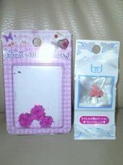 【新品同様】手芸◆ネイル◆パーツ*バラ(ピンク)2種類set!