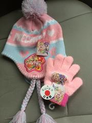 新品格安!《魔法つかいプリキュア》フリンジ付きニット帽&手袋
