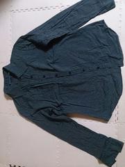 MIDORI.K.PLAN Lサイズ 黒とグレーのストライプ 美品