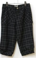 MashuKashuマシュカシュウールチェックパンツ裾絞り半端丈