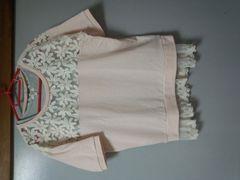 可愛い半袖ディジー刺繍カットソー M150�p