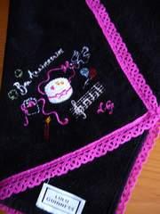 ルルギネレースタオルハンカチアニバーサリー刺繍