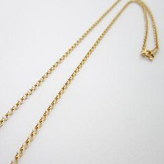 【50cm】K18金 幅2.0mm ロールチェーン ネックレス